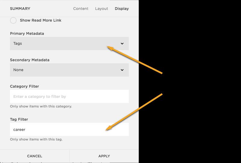 Squarespace List Widget Filter Image
