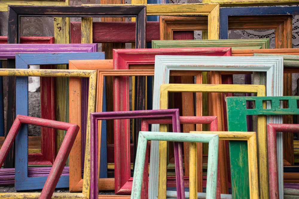 Photo of Colored Picture Frames