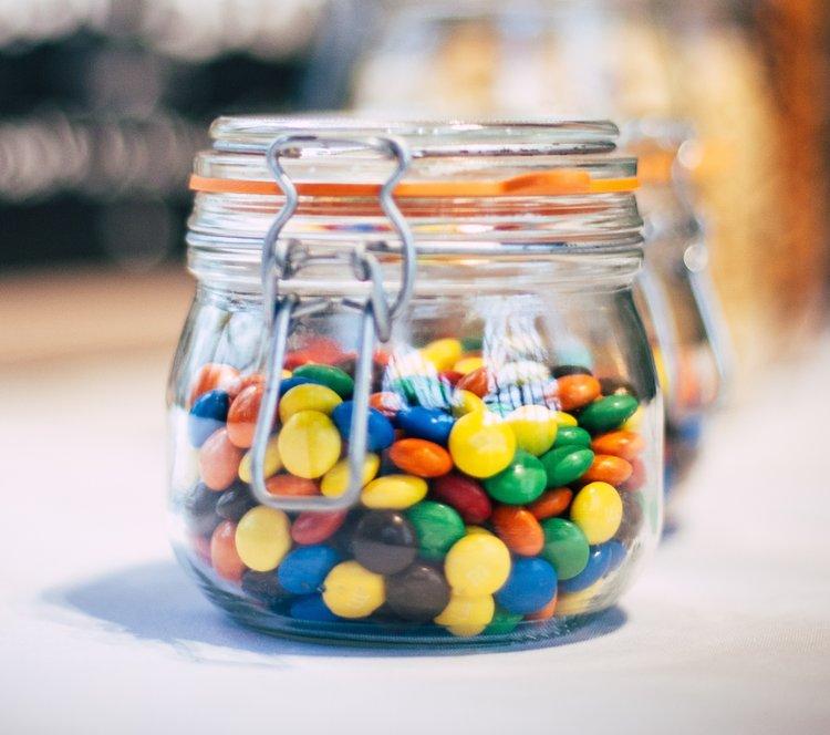 Jar of M&M's Photo