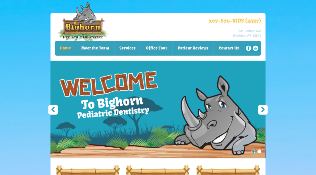 Old Bighorn Pediatric Dentistry Website Image
