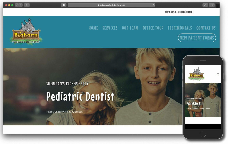 Bighorn Pediatric Dentistry New Website Screenshot Image