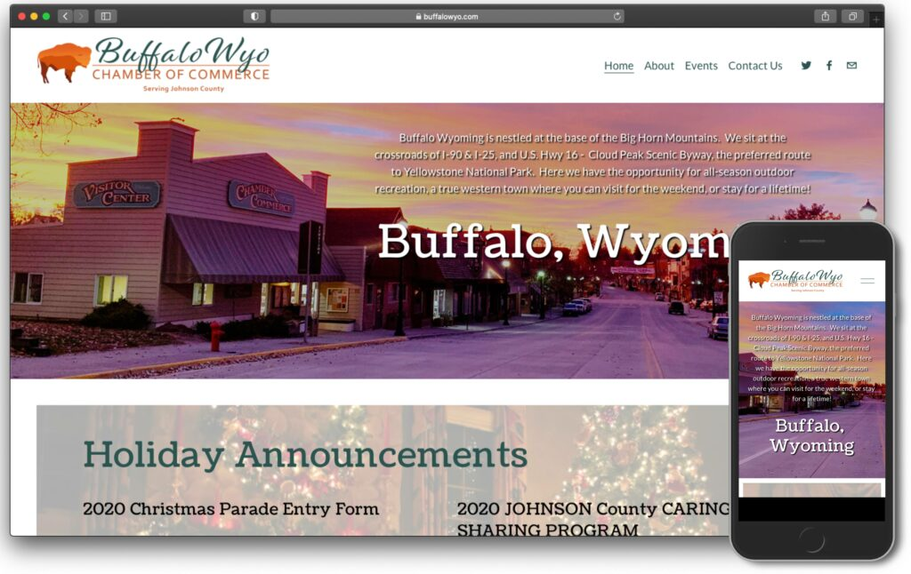 Buffalo Chamber of Commerce Website Screenshot Image