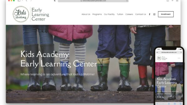 Kids Academy Website Screenshot